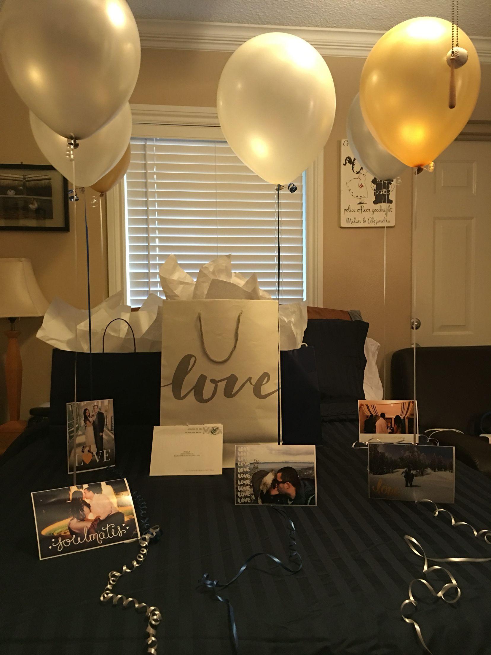 One Year Anniversary … Birthday surprise boyfriend