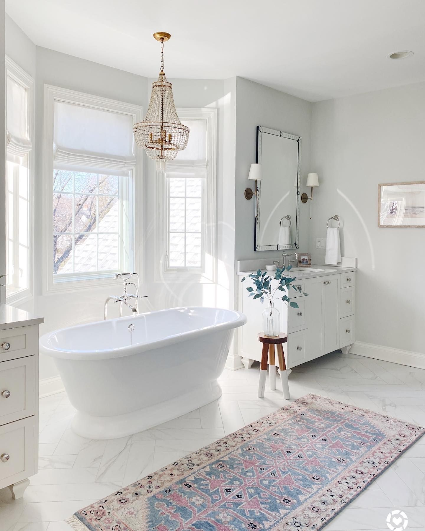 Spring Tour Part 1 Living Room Kitchen Life On Cedar Lane In 2021 Master Bathroom Design Bathroom Design Master Bathroom [ 1800 x 1440 Pixel ]