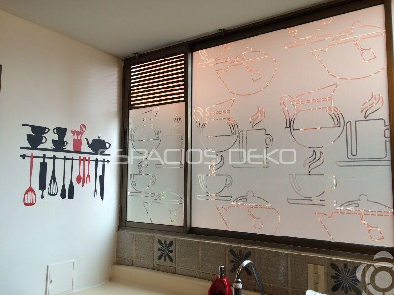 Decoración para #cocina, negro y rojo!... ventanas con diseño en ...