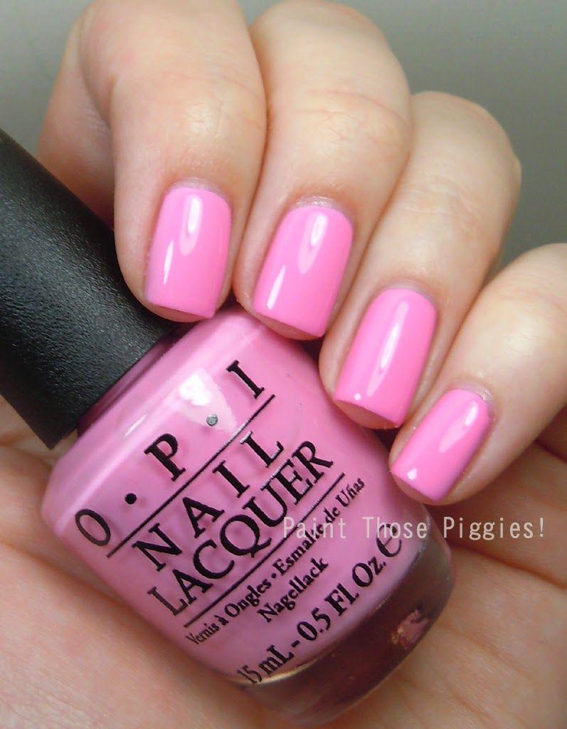 Paint Those Piggies Le Opi Hello Flamingo Collection Swatches Opi Pink Nail Polish Rose Nails Pink Nail Polish
