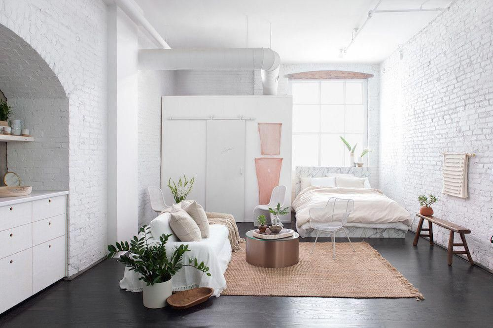 All White Minimalist Studio Apartment Smallroomdesignstudioapt
