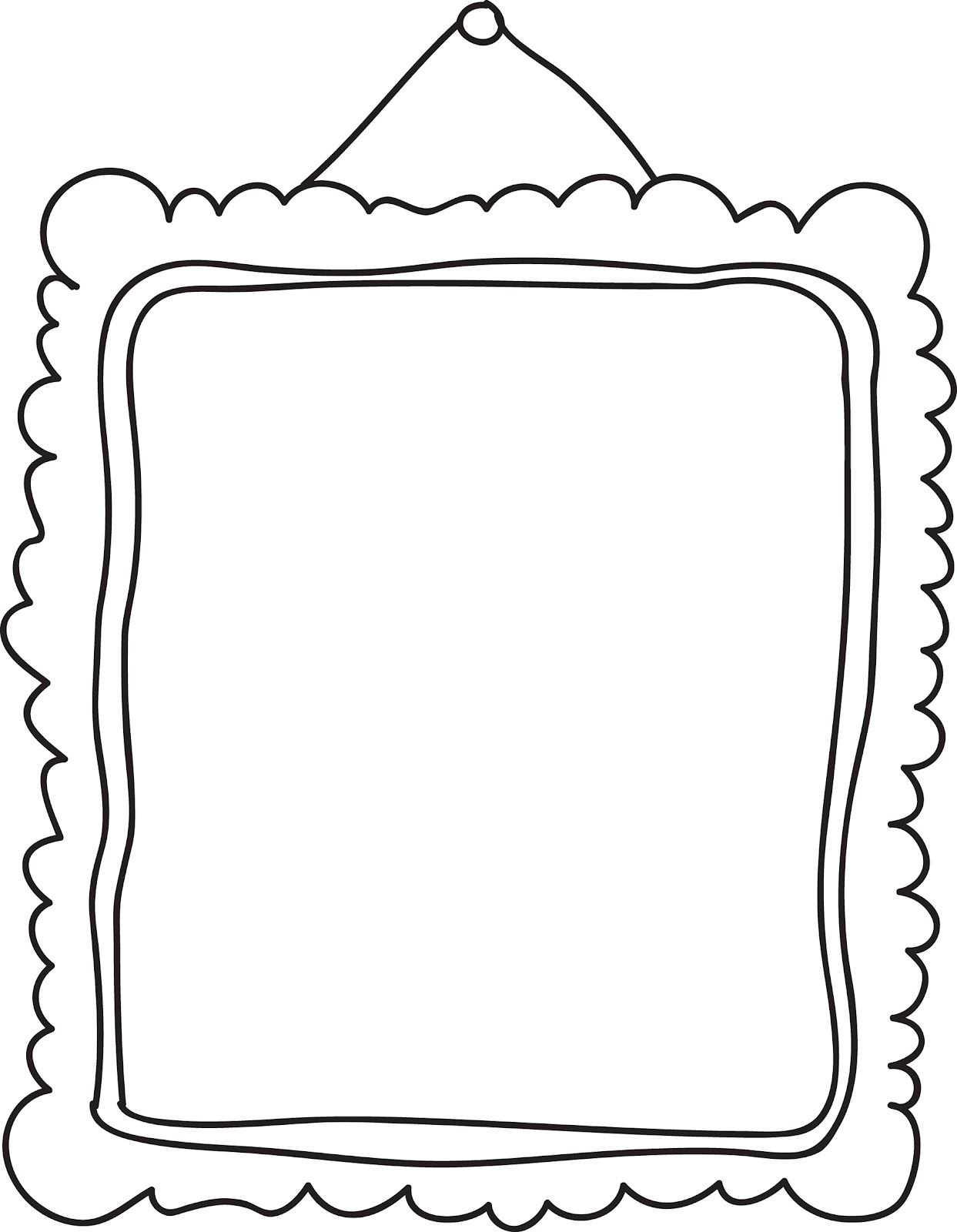 Image Result For Painting Frame Cartoon Black Whiteclip