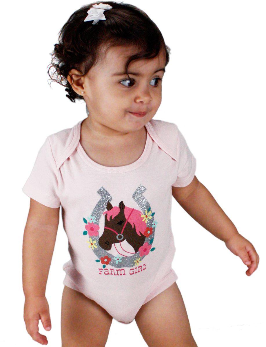 3d61d060840a4 Body Feminino Infantil Rosa Farm Girl Body infantil feminino na cor rosa