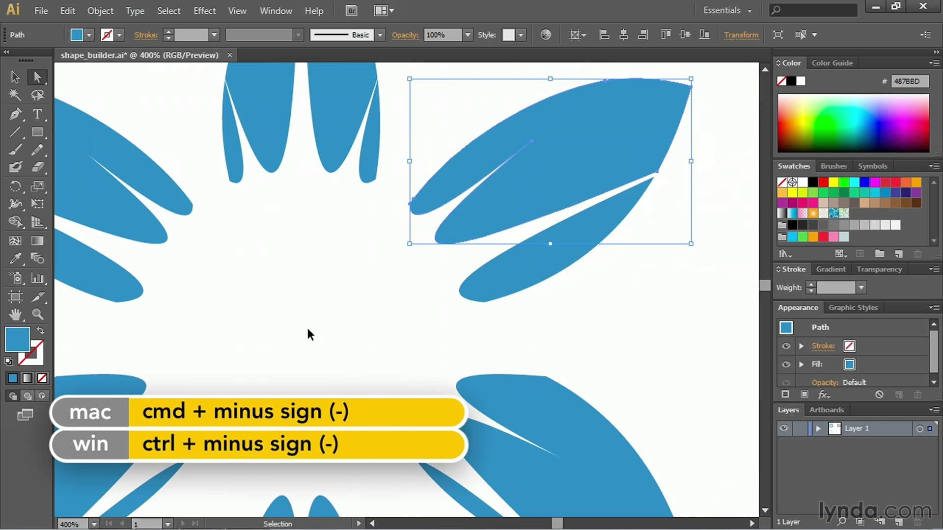 Illustrator Cc Tutorial Working With The Shape Builder
