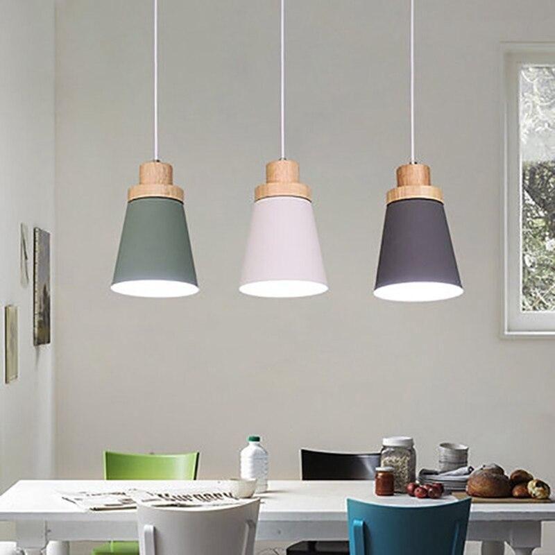 Nordic Modern Pendant Light Loft Lamps For The Kitchen Led Pendant
