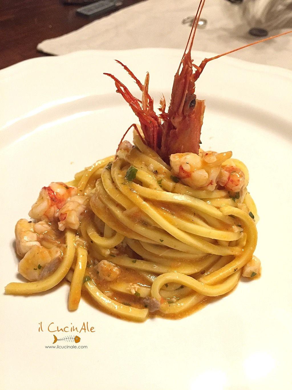 Spaghetti alla chitarra con scorfano e gamberi rossi for Ricette italiane primi piatti