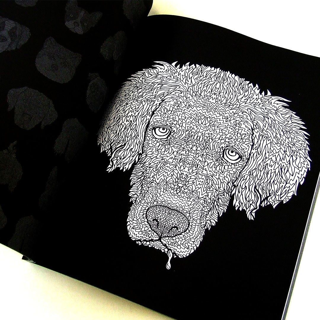 Golden Retriever Illustration From The Detailed Dogs Coloring Book Visit Complicatedcoloring