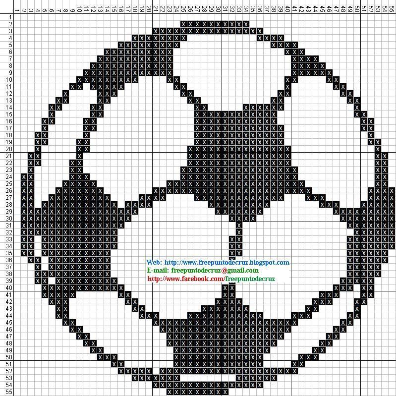 Dibujos Punto de Cruz Gratis: Pelota Futbol - Punto de cruz | hiii ...