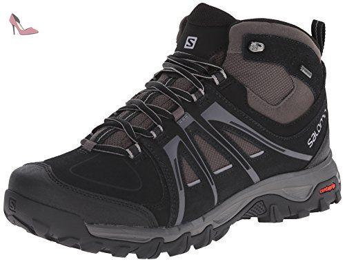 Salomon Evasion Mid GTX, Chaussures de trekking et randonnée homme, Noir -  Schwarz (