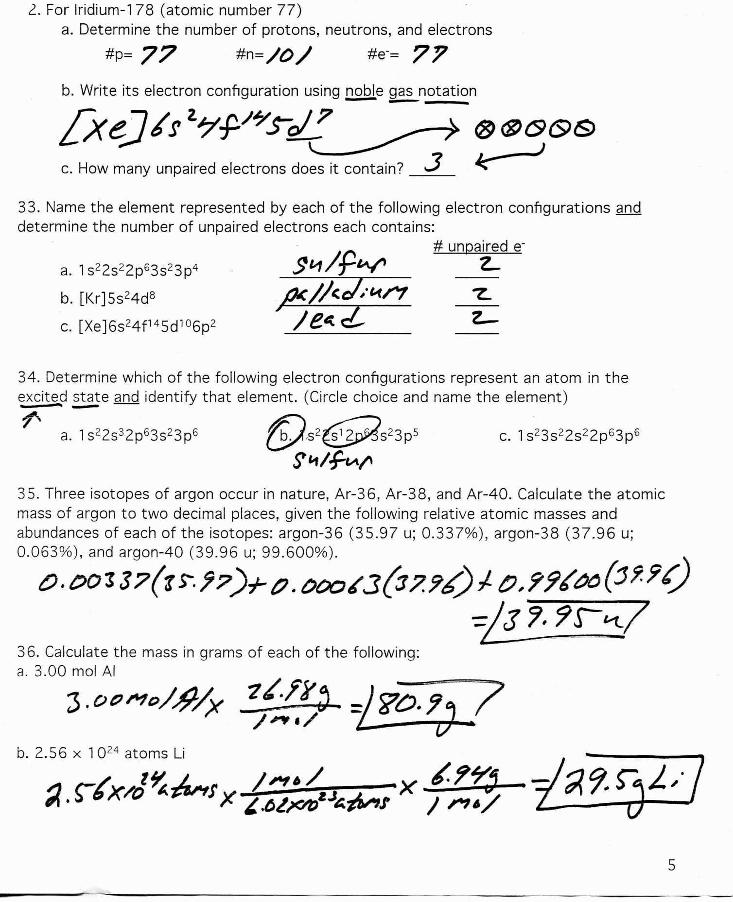 Newformal Valence Electrons Worksheet Answers