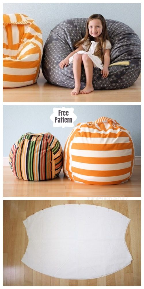 DIY Fabric Beanbag Free Sewing Patterns for Kids #diytutorial