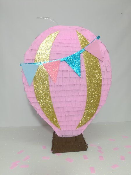 Pink Balloon Pinata, Ready To Ship Baby Shower Party, Pink Balloon Party  Decoration.