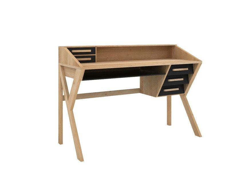 Scrivania in legno massello con cassetti origami scrivania by