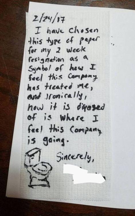 My husbands letter of resignation via /r/funny My husband\u0027s