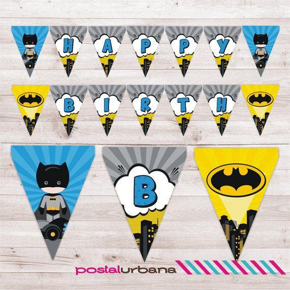 Banner Batman Fiesta Superheroes Batman Decoracion Por