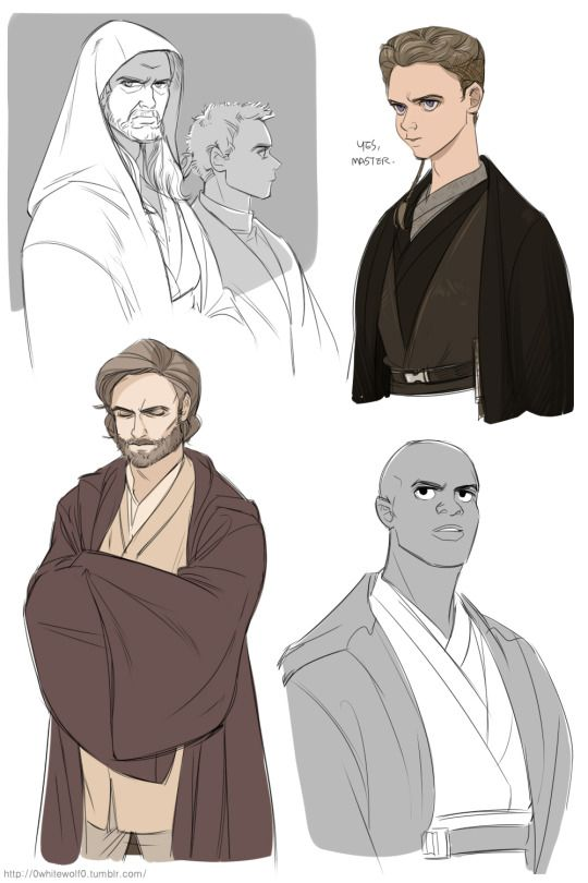 some Jedi doodles from star wars by Kay on tumblr #starwars #fanart ...