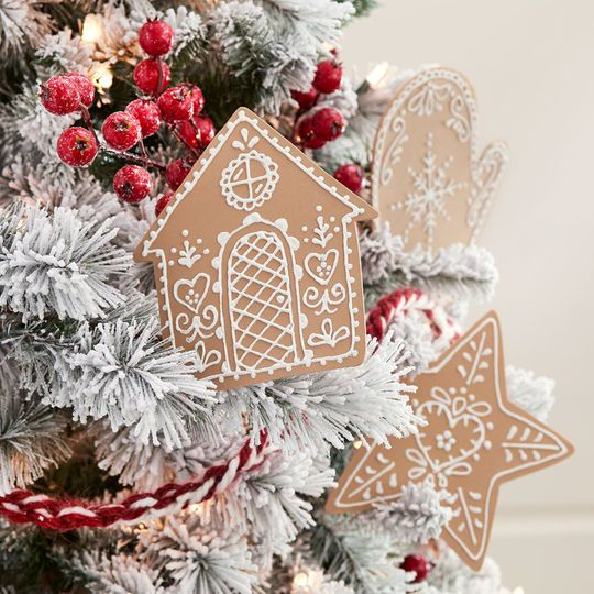 Pinecone Lodge Gingerbread Christmas Ornaments Art Projects for