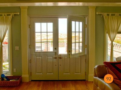 Classic Styled 34 Double Dutch Fiberglass Entry Doors With Half
