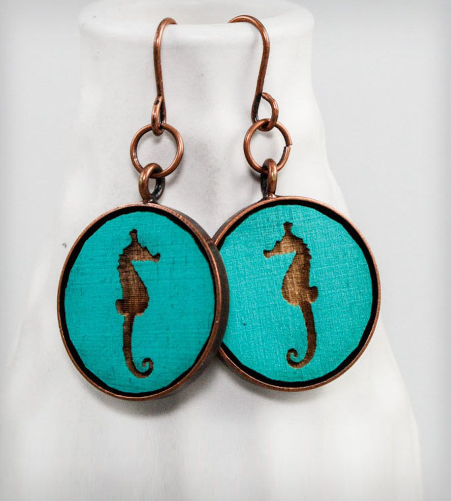 Cameo Seahorse Earrings