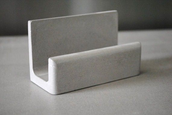Cement Business Card Stand Desk Accessories Business Card Display Business Card Holder Minimalist Business Card Holder