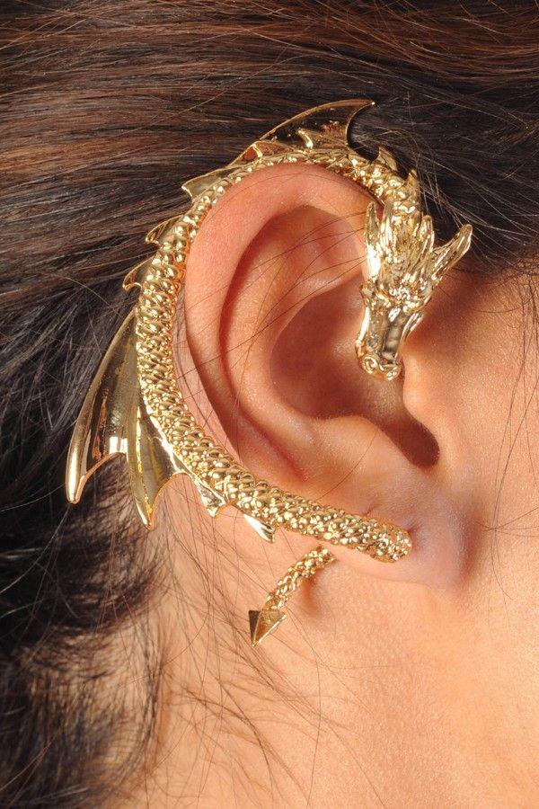 Gold Dragon Cuff Earring 14 99 More