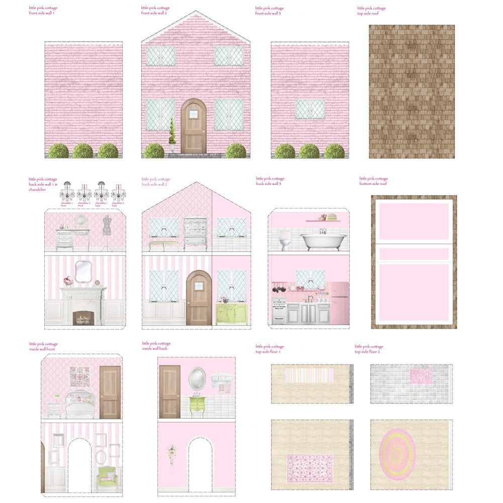 photo relating to Printable Dollhouse called Cost-free Dollhouse Printables Printable Dollhouses Doll