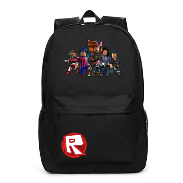 Roblox Red Nose Day Roblox All Character Logo Black Backpack Schoolbag For  Kids 27ba00edc9859