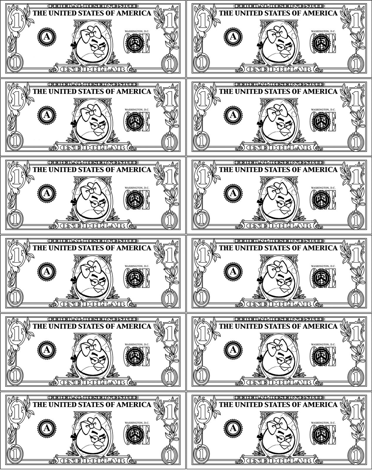 30 coloring pages about money