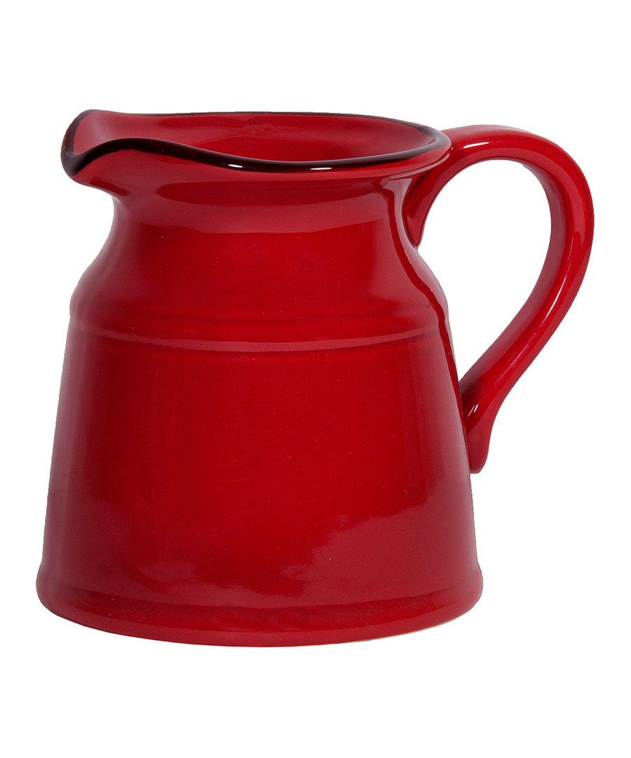 Look at this Home Essentials Large Fire Red Pitcher on #zulily today!