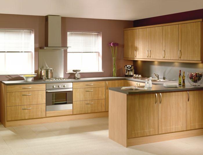 Braune Küche | Bodenbelag Kuche Bodenfliesen Braune Wande Kuchenideen Cocinas