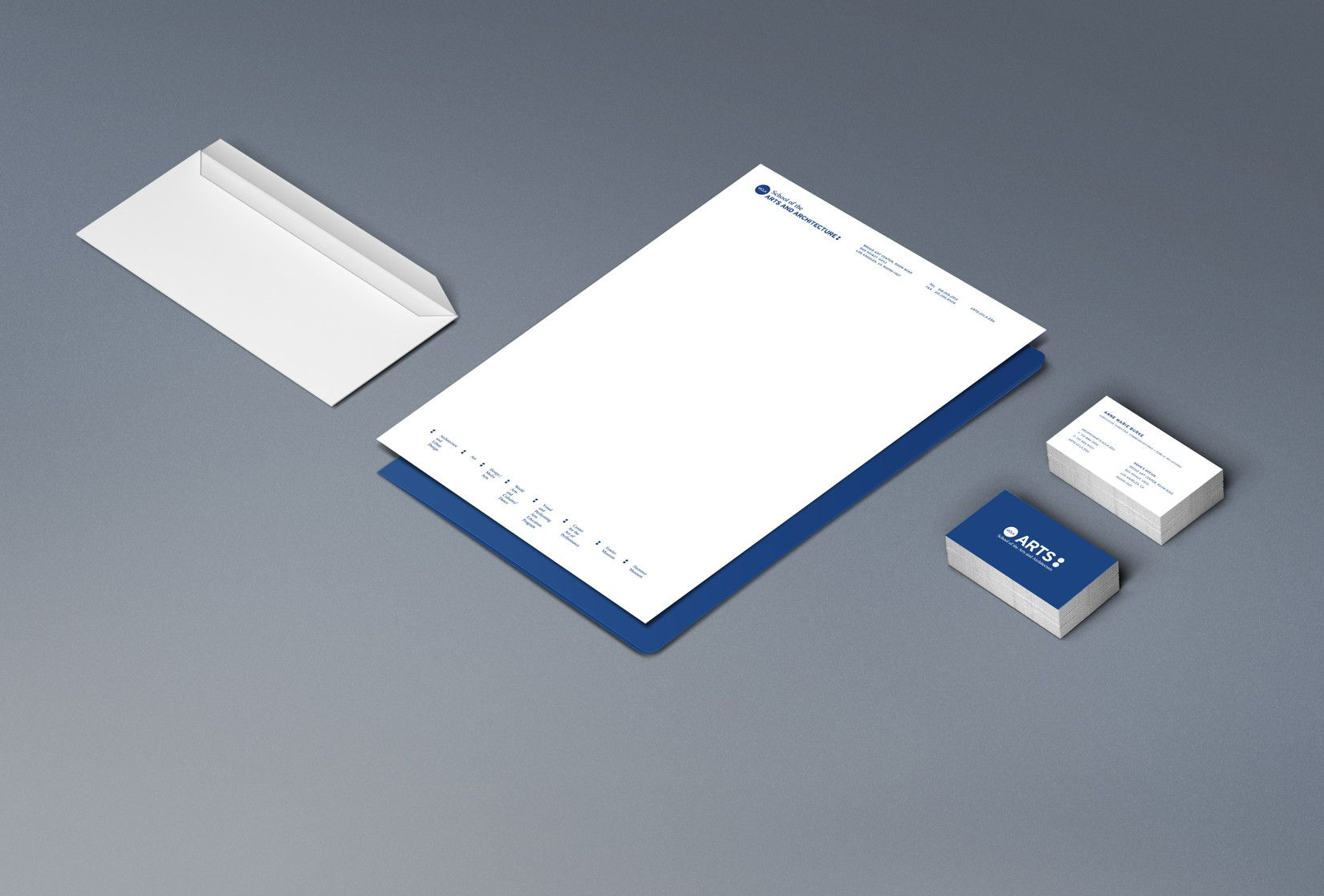 Collateral And Stationary For The UCLA School Of The Arts And Architecture