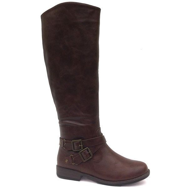 Buckle-adorned boots