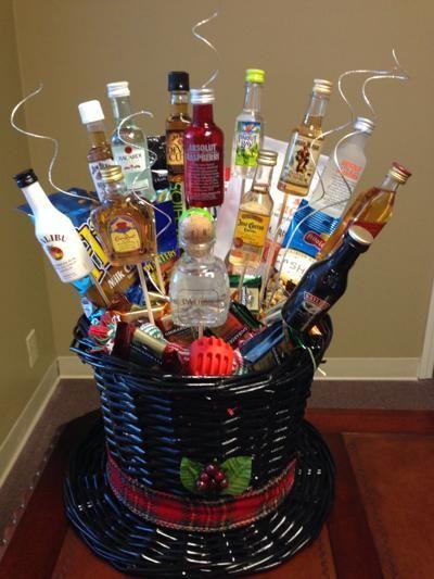 Men S Gift Basket Great For Alcohol Gift Baskets
