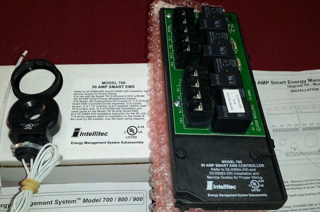 Intellitec 50 Amp Smart Ems Energy Management System Upgrade Kit Model 760 New Upgrade Model System Management S Energy System