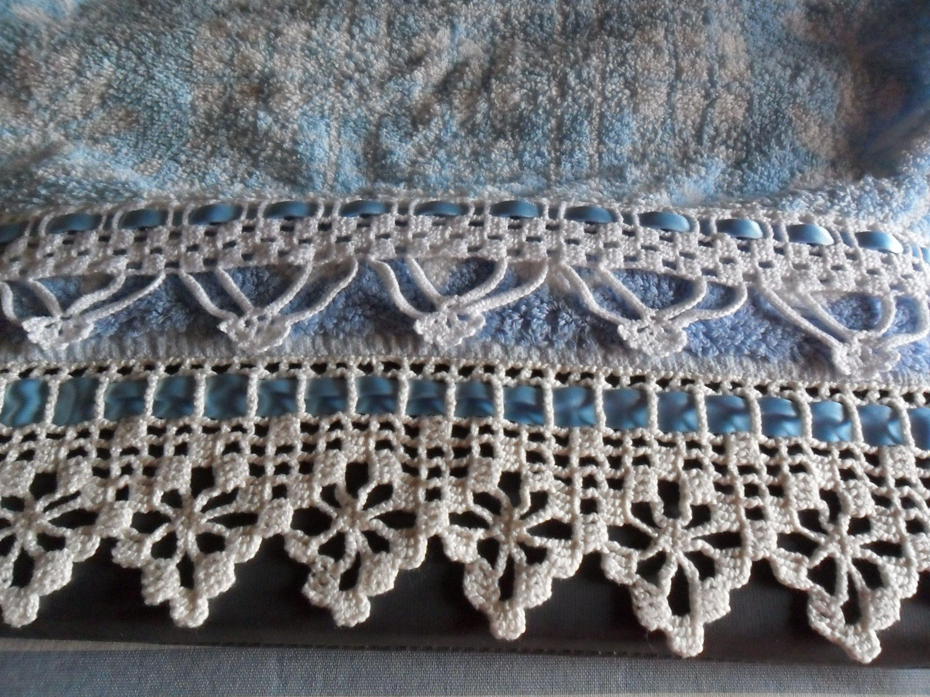 Puntilla de crochet para rematar estas toallas.   puntillas ...