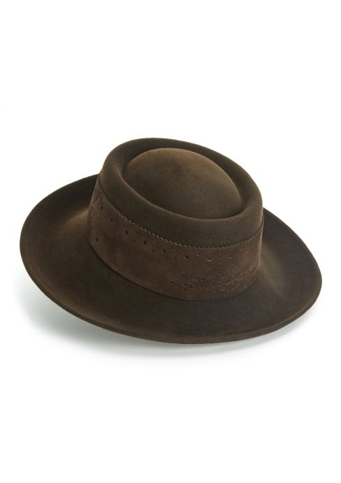 4c4bddbe Prospect fedora - Designed by milliner Joanna Zara exclusively for Lock,  the Prospect hat is a pork-pie crown hat with a neat, curled-up brim.