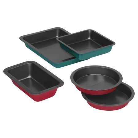 Bakerssecret 5 Pc Colored Bakeware Set It S Beginning To Look A