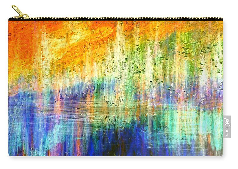Lake Sunset Carry All Pouch For Sale By Faye Anastasopoulou Colorful Backgrounds Picture Design