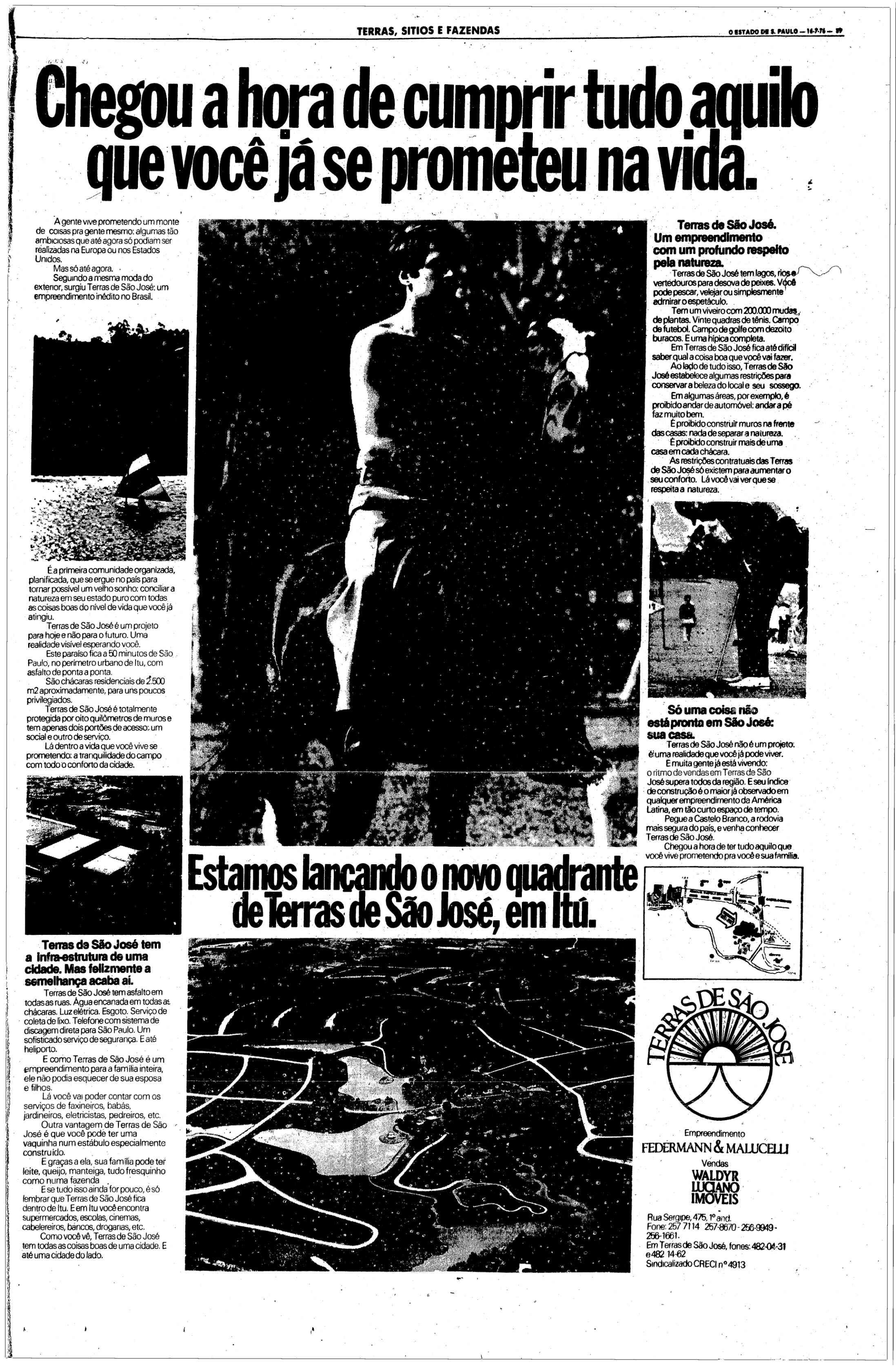 Terras de São José - condomínio - 1976