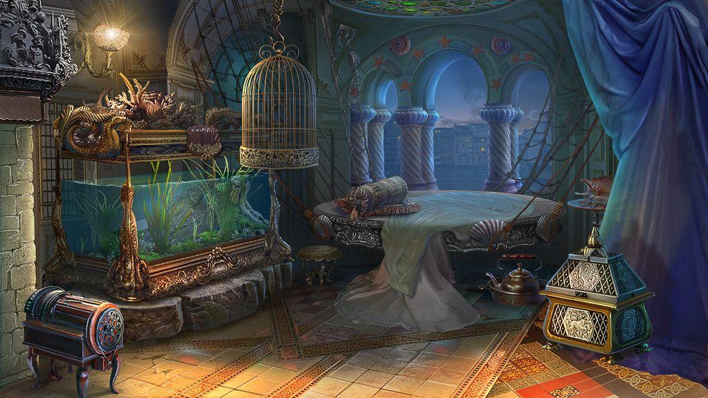 A Fantasy Room by Lemonushka bedroom landscape location