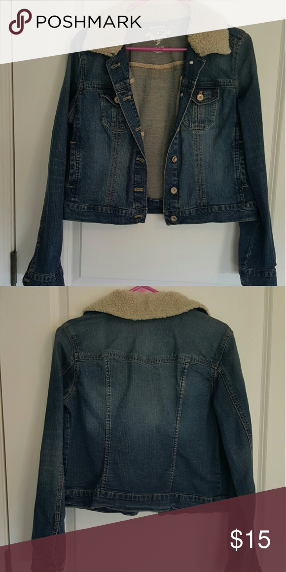 Denim jacket Denim jacket with sherpa collar Sonoma Jackets & Coats Jean Jackets