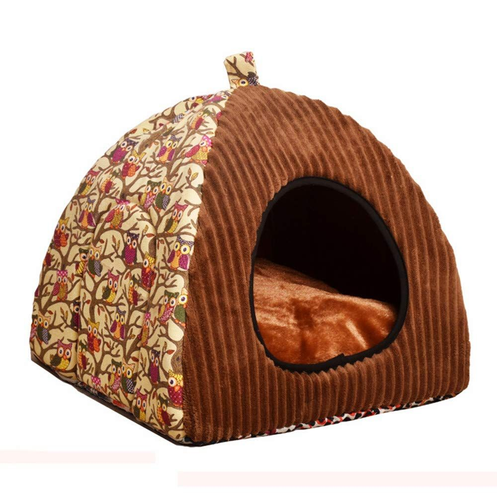 Salaks Enclosed Covered Cats Warm House Semi Closed Dog Tent Cat Tent Cat House