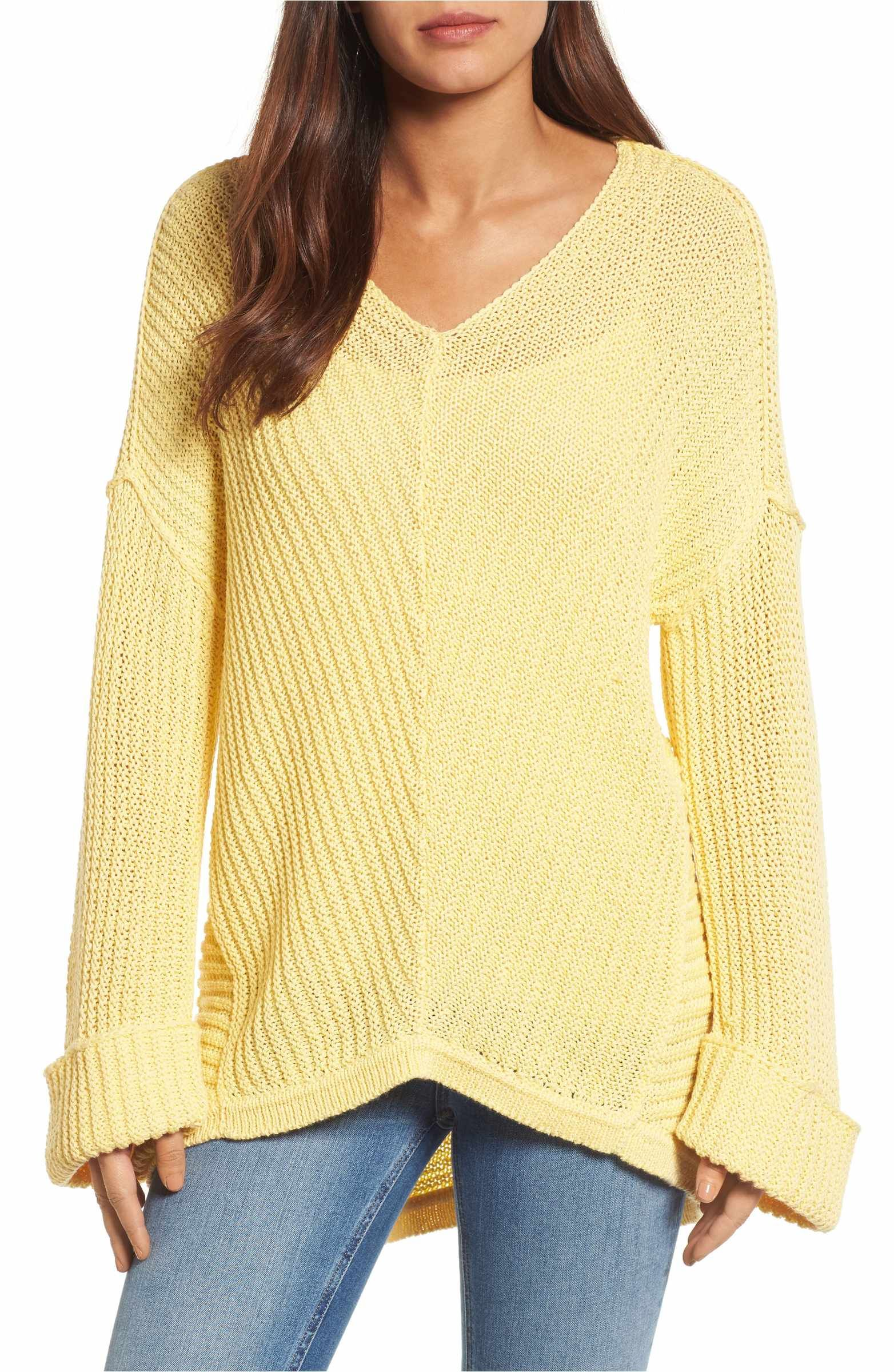 Main Image - Caslon® Cuffed Sleeve Sweater (Regular   Petite ... 122bbe0ff
