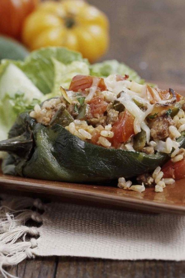 Mit Chipotle-Truthahn gefüllte Paprikaschoten   - Healthy Recipes for a Diabetes Diet -