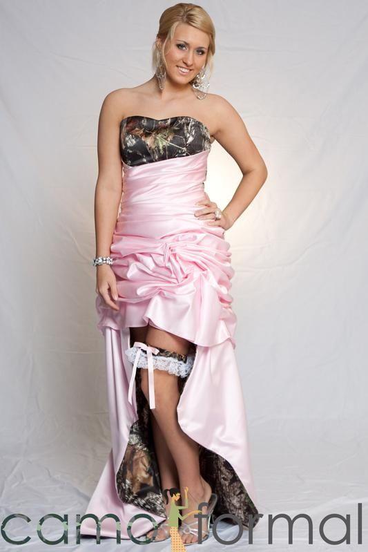 Dyal Pink Camo Wedding Dresses