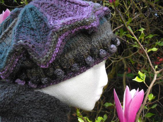 Medium Victoria Tam in Ninja Colorway Handknit  by MountainMist