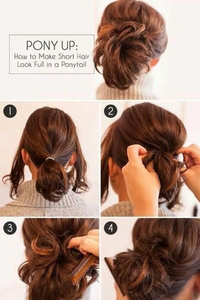 Fast And Easy Hairstyles Fast And Easy Full Ponytail Hairstyle For Short Hair  Things I Love