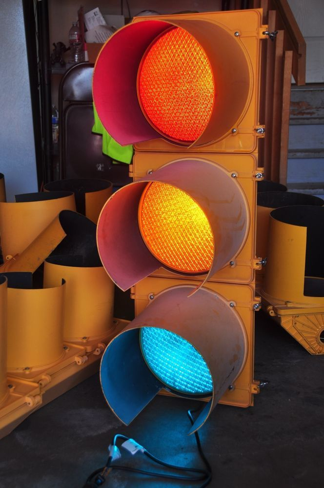 Working Traffic Signal Red Yellow Green 12 Led Lights Polycarbonate Led Lights Traffic Signal Lights
