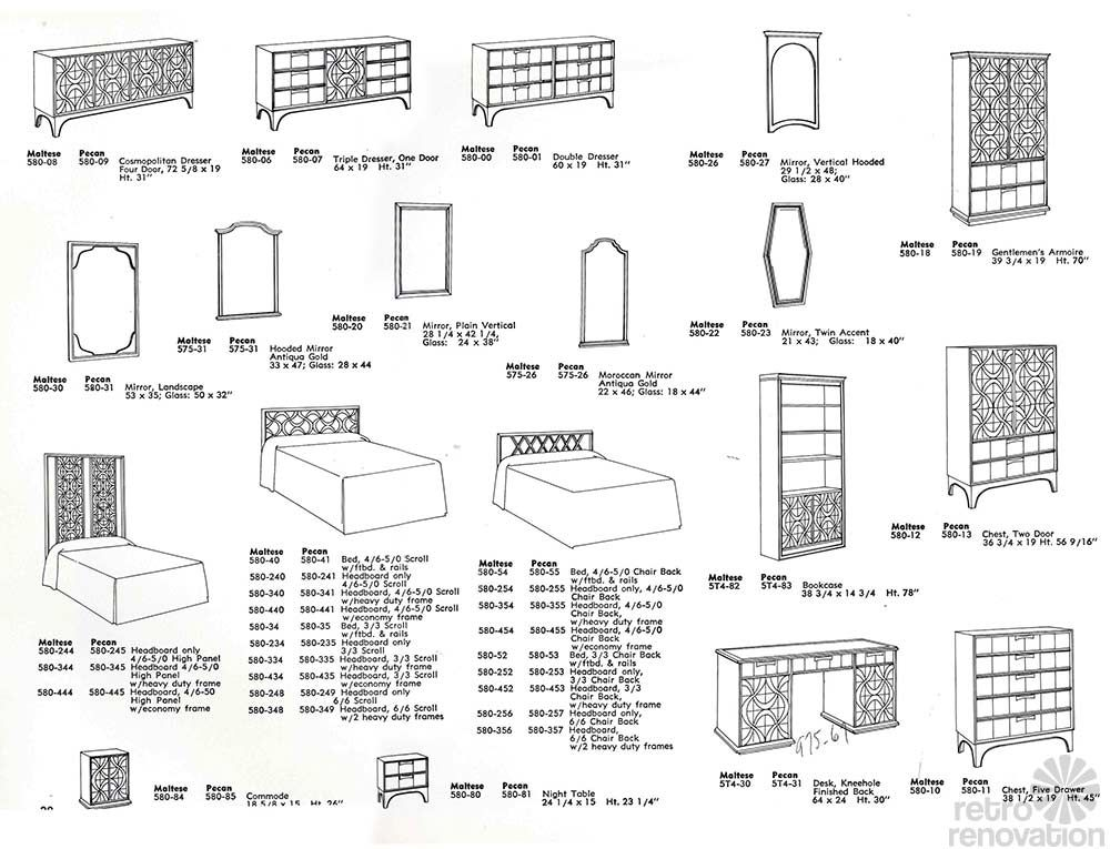 Vintage Stanley Furniture Theme II Line   10 Page Catalog From The  Companyu0027s Archives   Retro Renovation