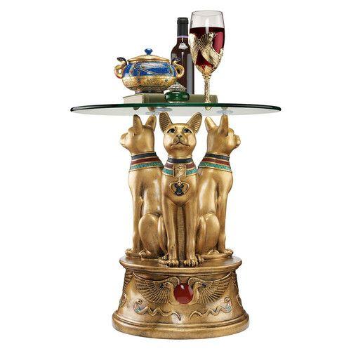 Royal Golden Bastet Egyptian End Table. End TablesReproduction ...